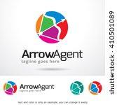 arrow agent logo template... | Shutterstock .eps vector #410501089
