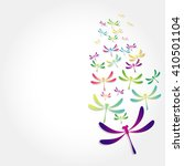 beautiful icon dragonfly on... | Shutterstock .eps vector #410501104