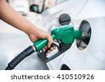 handle fuel nozzle to refuel....