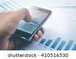 close up hand of businessman... | Shutterstock . vector #410516530