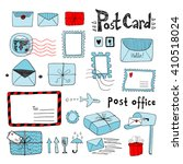set of hand drawn sketchy post... | Shutterstock .eps vector #410518024