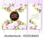 invitation with floral... | Shutterstock . vector #410518663