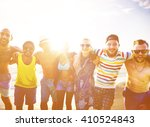 diverse people friends fun... | Shutterstock . vector #410524843