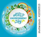 world environment day. world... | Shutterstock .eps vector #410530513