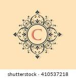 letter c floral monogram.   Shutterstock .eps vector #410537218