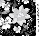seamless vector floral pattern. ... | Shutterstock .eps vector #410540110