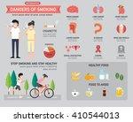 dangers of smoking infographics.... | Shutterstock .eps vector #410544013