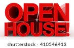open house   word on white... | Shutterstock . vector #410546413