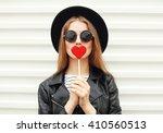 fashion portrait pretty sweet... | Shutterstock . vector #410560513