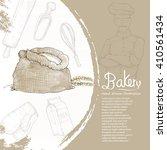 illustration of bakery. bakery... | Shutterstock .eps vector #410561434