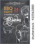 barbecue party invitation. bbq... | Shutterstock .eps vector #410562880