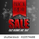 black friday sale crazy discount | Shutterstock . vector #410574688