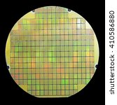 silicon wafer with chips... | Shutterstock . vector #410586880