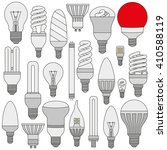 ligth lamps set. colored... | Shutterstock .eps vector #410588119