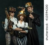 steam punk style. the people of ... | Shutterstock . vector #410594200