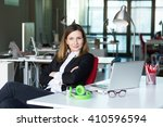 charismatic business lady in... | Shutterstock . vector #410596594