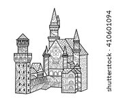 medieval castle coloring book... | Shutterstock . vector #410601094