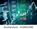 financial data on a monitor.... | Shutterstock . vector #410602480