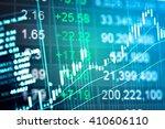 financial data on a monitor....   Shutterstock . vector #410606110