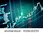 financial data on a monitor.... | Shutterstock . vector #410610253