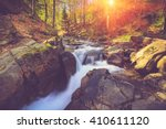 view of mountain river with...   Shutterstock . vector #410611120