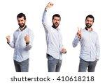 lucky man | Shutterstock . vector #410618218