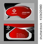 creative business card vector... | Shutterstock .eps vector #410620480