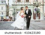 wedding photo shooting. bride... | Shutterstock . vector #410623180