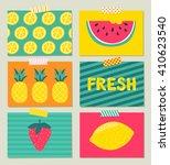 vector set of bright summer... | Shutterstock .eps vector #410623540