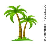 isolated palm tree   can be... | Shutterstock .eps vector #410631100