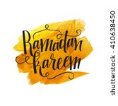 stylish text ramadan kareem on... | Shutterstock .eps vector #410638450