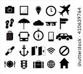 travel icons black  and white . ... | Shutterstock .eps vector #410639764