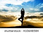 selective focus silhouette... | Shutterstock . vector #410648584