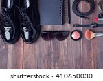 women stylish outfit and make... | Shutterstock . vector #410650030