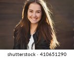 lovely portrait of pretty... | Shutterstock . vector #410651290