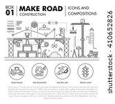 modern road building and bridge ... | Shutterstock .eps vector #410652826