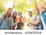 group of young people cheering  ... | Shutterstock . vector #410659318