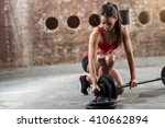 sexy young fitness woman... | Shutterstock . vector #410662894