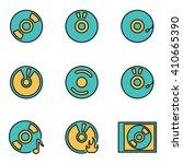 trendy flat line icon pack for...   Shutterstock .eps vector #410665390