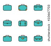 trendy flat line icon pack for... | Shutterstock .eps vector #410667703