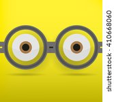 eyes in glasses with shadow on... | Shutterstock .eps vector #410668060