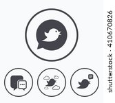 birds icons. social media... | Shutterstock .eps vector #410670826