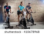 young people cycling workout... | Shutterstock . vector #410678968