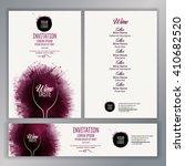 design template list  wine...   Shutterstock .eps vector #410682520