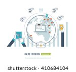 concept for online education  e ... | Shutterstock . vector #410684104