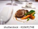beef steak in fine dining