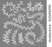 monochrome vintage set with... | Shutterstock . vector #410696500
