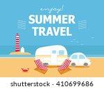 camping travel season | Shutterstock .eps vector #410699686