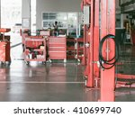 empty car service garage with... | Shutterstock . vector #410699740