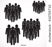 illustration of crowd of people | Shutterstock .eps vector #410705710
